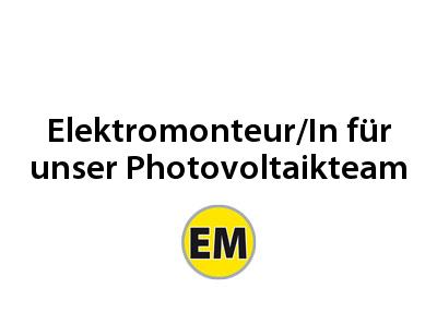 Elektromonteur für Photovoltaik